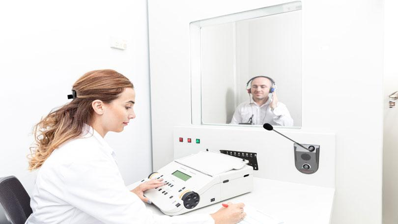 Soundbooth for hearing test