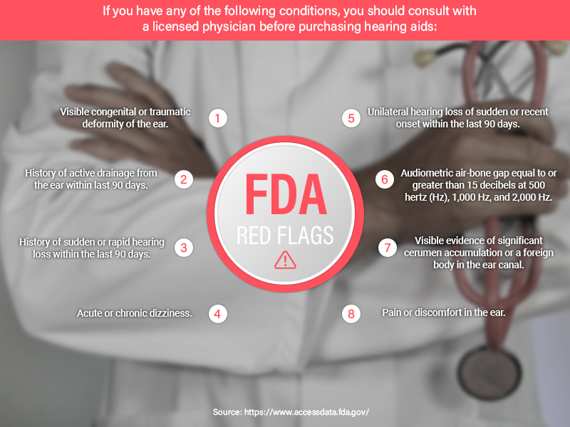 fda hearing aid red flags